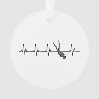 SCUBA Diving Heartbeat Ornament