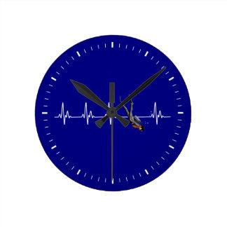 SCUBA Diving Heartbeat Round Clock