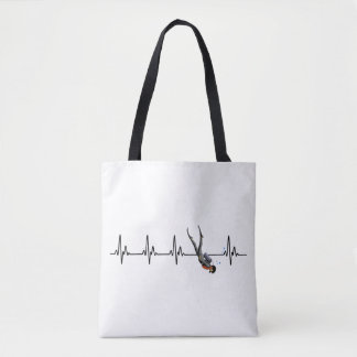 SCUBA Diving Heartbeat Tote Bag