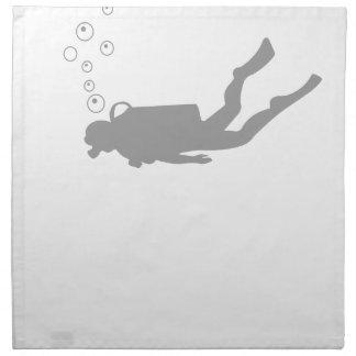 scuba diving napkin