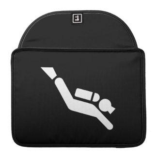 Scuba Diving Pictogram MacBook Pro Sleeve