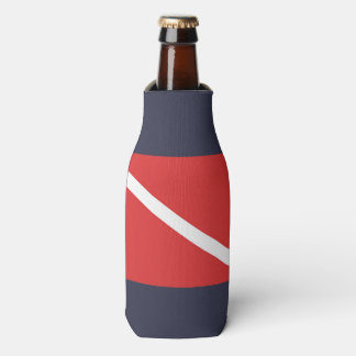 SCUBA DIVING RED FLAG SYMBOL, DIVERS BOTTLE COOLER