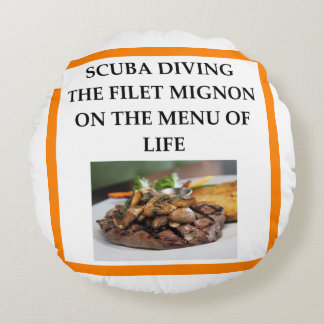 scuba diving round pillow