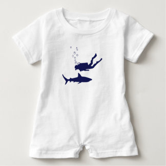 scuba diving with sharks baby romper