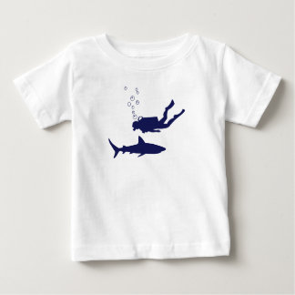 scuba diving with sharks baby T-Shirt