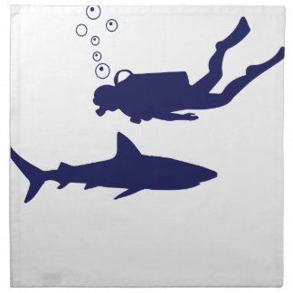 scuba diving with sharks napkin