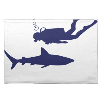 scuba diving with sharks placemat