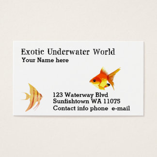 Scuba,fish shoppe, swim lessons business card