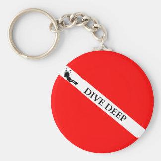 Scuba Flag (Dive Deep) Basic Round Button Keychain