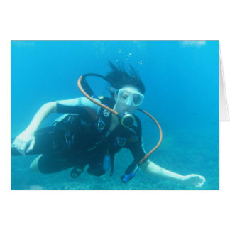 Scuba Girl  Greeting Cards