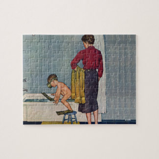 Scuba in the Tub Jigsaw Puzzle