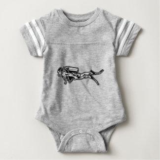 scuba more diver baby bodysuit