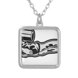 scuba more diver silver plated necklace