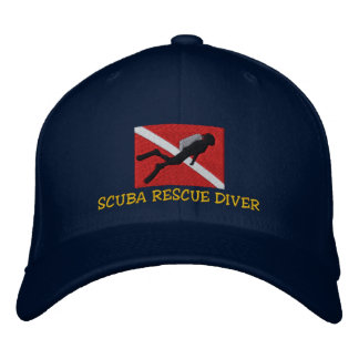 SCUBA Rescue Diver Embroidered Cap Embroidered Hat