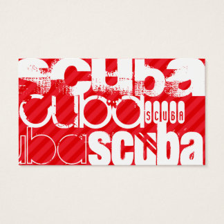 Scuba; Scarlet Red Stripes Business Card