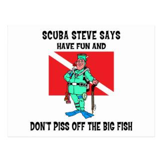 SCUBA Steve Postcard