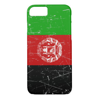 Scuffed and Scratched Afghan Flag iPhone 7 Case