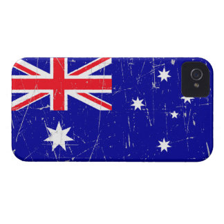 Scuffed and Scratched Australian Flag iPhone 4 Covers
