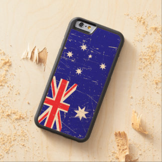 Scuffed and Scratched Australian Flag Carved® Maple iPhone 6 Bumper