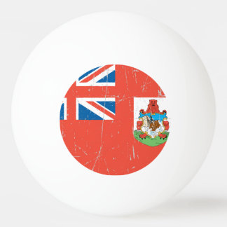 Scuffed and Scratched Bermuda Flag Ping Pong Ball