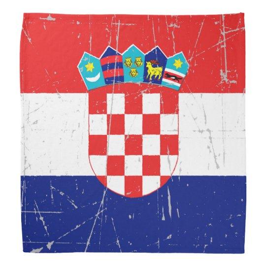 Scuffed and Scratched Croatian Flag Bandana