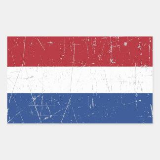 Scuffed and Scratched Dutch Flag