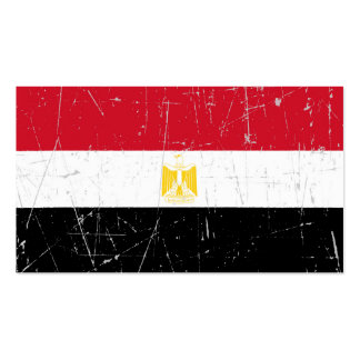Scuffed and Scratched Egyptian Flag Business Card Template