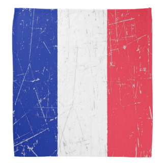 Scuffed and Scratched French Flag Bandana