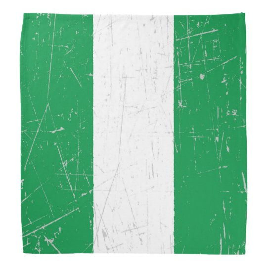 Scuffed and Scratched Nigerian Flag Bandannas