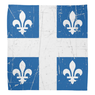 Scuffed and Scratched Quebec Flag Bandana