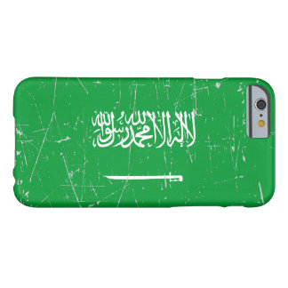 Scuffed and Scratched Saudi Arabian Flag Barely There iPhone 6 Case