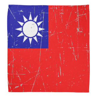 Scuffed and Scratched Taiwanese Flag Bandana