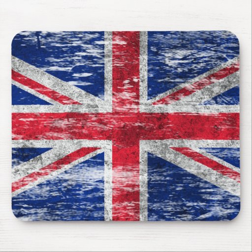 Scuffed and Worn British Flag Mousepads