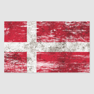 Scuffed and Worn Danish Flag Sticker