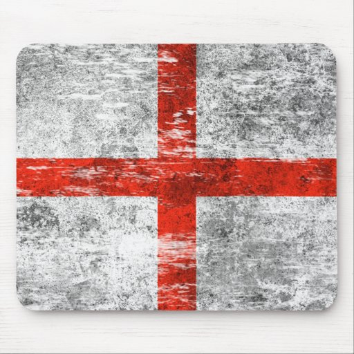 Scuffed and Worn English Flag Mousepads