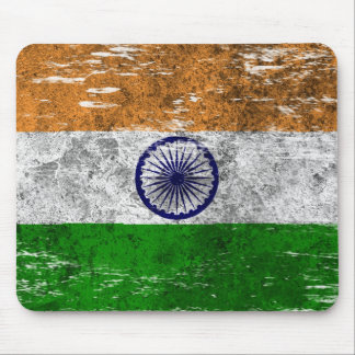 Scuffed and Worn Indian Flag Mouse Pads