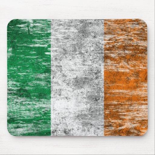 Scuffed and Worn Irish Flag Mousepads