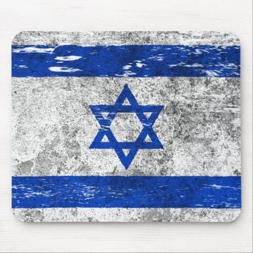 Scuffed and Worn Israeli Flag Mousepads