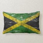 Scuffed and Worn Jamaican Flag Lumbar Pillow