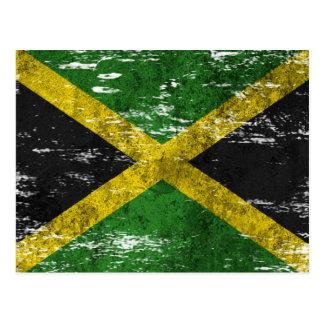 Scuffed and Worn Jamaican Flag Postcard