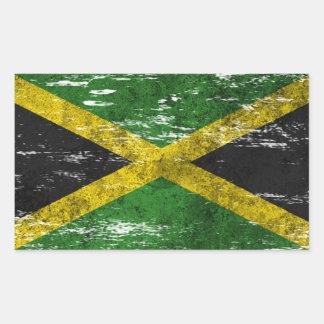 Scuffed and Worn Jamaican Flag Sticker