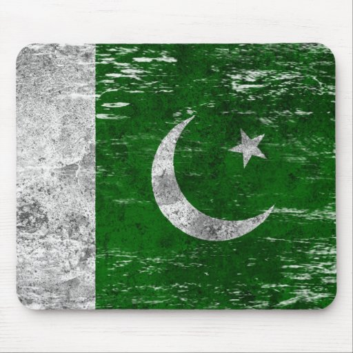Scuffed and Worn Pakistani Flag Mouse Pads