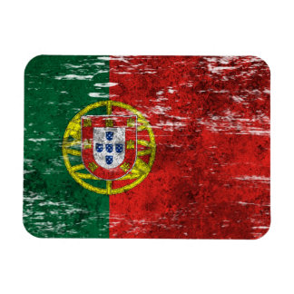 Scuffed and Worn Portuguese Flag Magnet