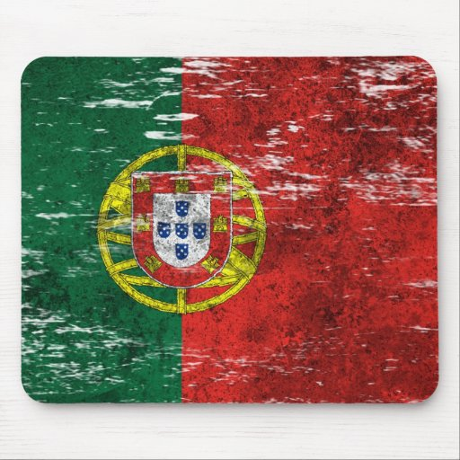 Scuffed and Worn Portuguese Flag Mouse Pads