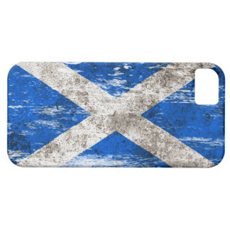 Scuffed and Worn Scottish Flag iPhone 5 Case
