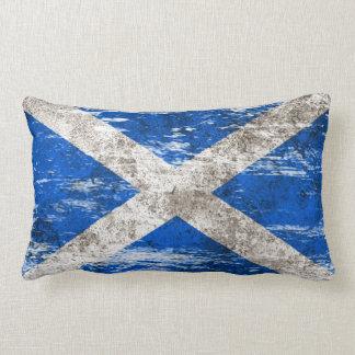 Scuffed and Worn Scottish Flag Lumbar Pillow