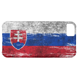 Scuffed and Worn Slovakian Flag Case For iPhone 5C