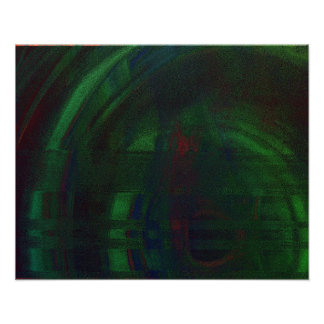 SCUFFED RIM ABSTRACT GREEN MANDELBULB FRACTAL IMG POSTER