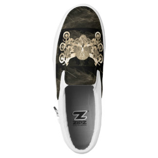 Scull and Motorcycles Smoke Black Slip On Sneaker