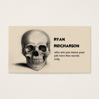 scull skeleton business card